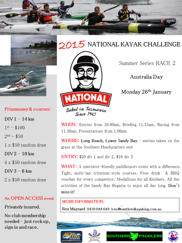 2015_NATIONAL_Kayak_Challenge_26th_Jan